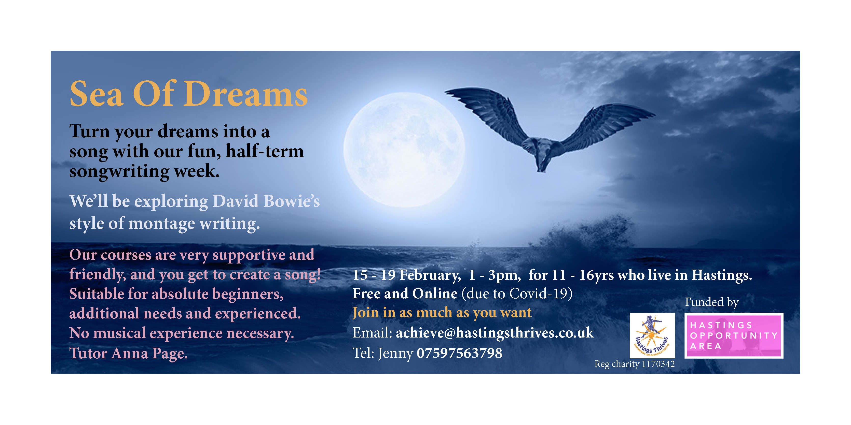sea of dreams songwriting course hastings